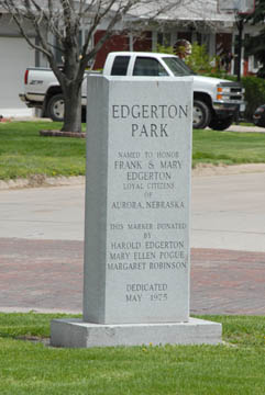 Edgerton Park Sign
