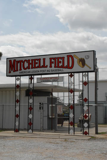 entrance to baseball stadium