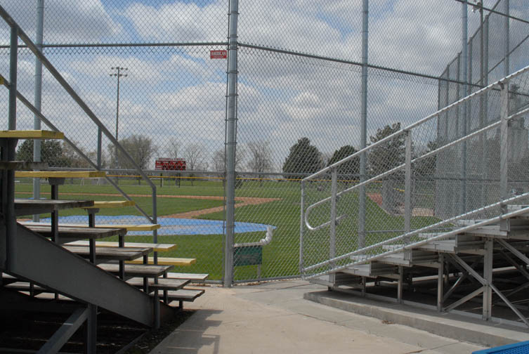 grandstand at aurora  nebraska baseball stadium