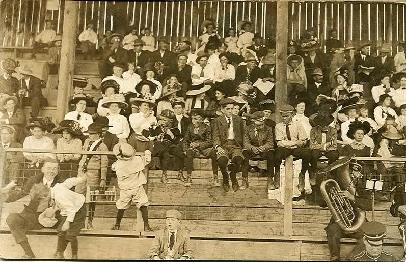 Valentine Baseball 1913 Stadium, Valentine Nebraska Baseball Crowd 1913